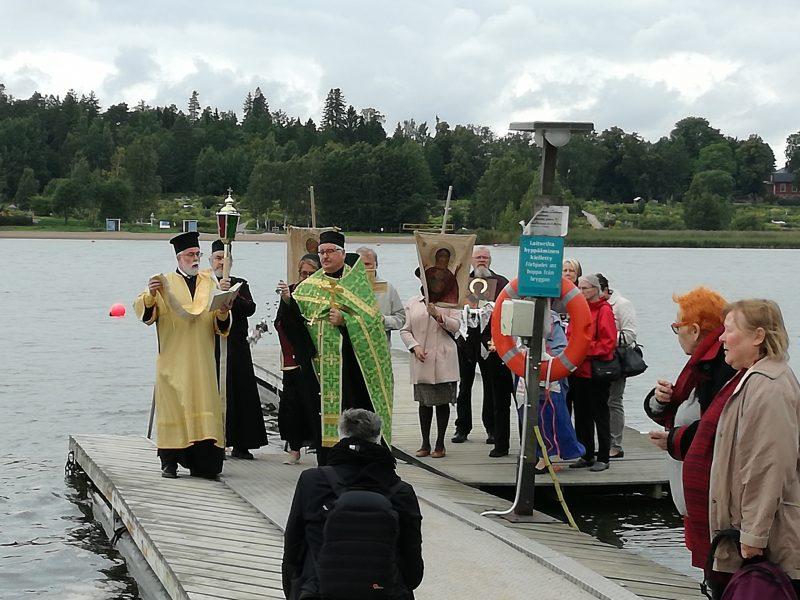 Suuri vedenpyhitys, Rastila 29.8.2017. Aleksanteri Syväriläisen kappelin temppelijuhla 30.8.